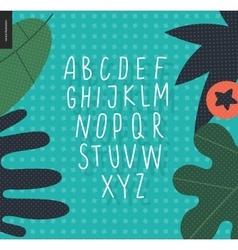 uppercase alphabet 4 vector image