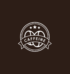 vintage coffee logo in white color vector image