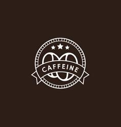 Vintage coffee logo in white color vector