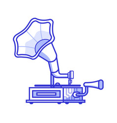 Vintage horn gramophone icon vector