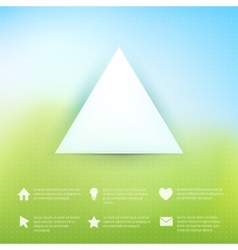 Web elements on natural background vector image