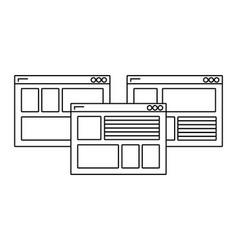 web windows cartoon vector image