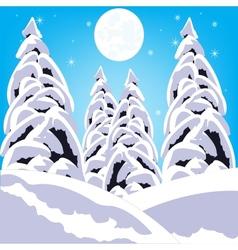 Winter in wood vector image