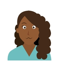 Woman character facial expression vector