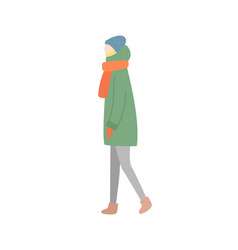 woman side view full length portrait vector image