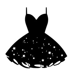 womens star print cocktail dress vector image