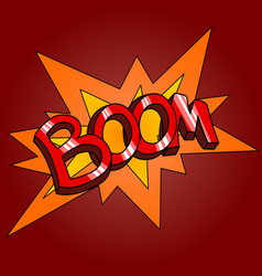 word boom vector image