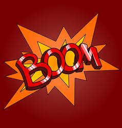 Word boom vector