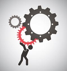 worker design vector image