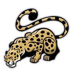 crouching leopard mascot vector image vector image