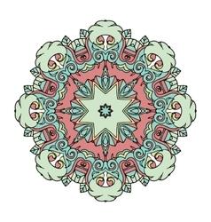 Flloral mandala white background vector image