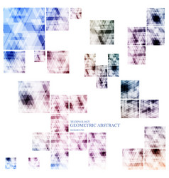 geometric technological various square abstract vector image