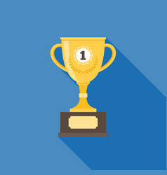 gold trophy vector image