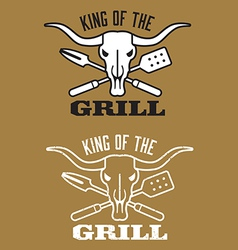 King of the Grill barbecue image vector image vector image