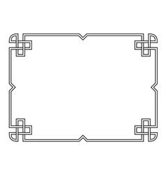 Roman style black ornamental decorative frame vector image vector image