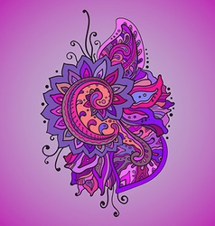 Traditional oriental floral ornament with a lot of vector image vector image