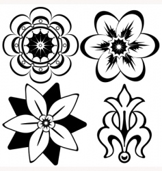 vintage floral decorative elements vector image