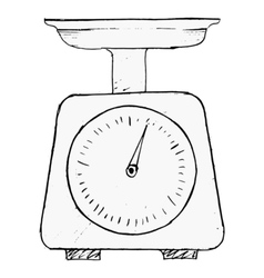 domestic weigh-scales vector image vector image