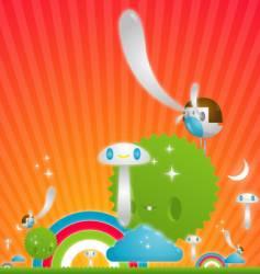 fantasy illustration vector image vector image