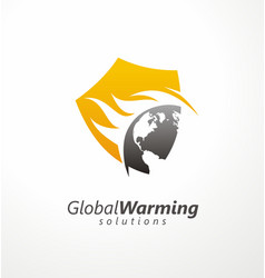 global warming solutions conceptual symbol design vector image