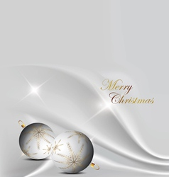 silver elegant christmas background with christmas vector image
