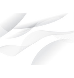 Abstract white curve and wave background vector