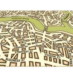 angled success map vector image vector image