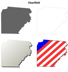 Clearfield Map Icon Set vector image