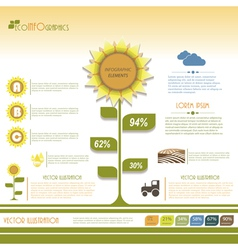 Modern infographic green template design vector image