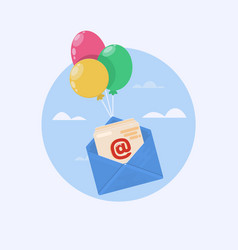 open mail icon one of set web icons vector image vector image