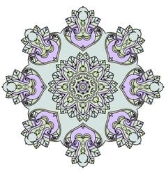 Ornate mandala white background vector image vector image