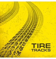 Tire tracks on yellow vector image vector image