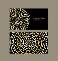 business card design golden mandala vector image vector image