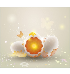 easter light background vector image vector image