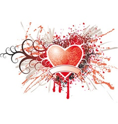 Heart Insignia vector image vector image