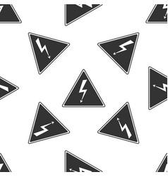high voltage sign seamless pattern danger symbol vector image vector image
