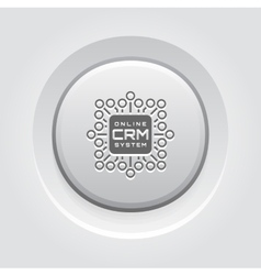 Online CRM System Icon vector image