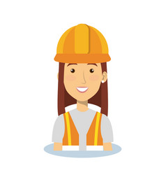professional construction woman character vector image