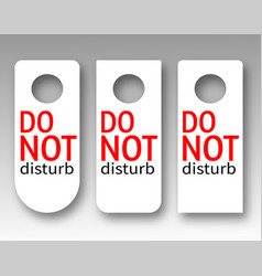 a set of door hangers with the inscription vector image