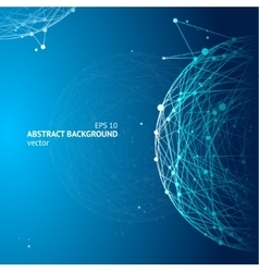 Abstract geometry sphere background vector