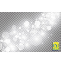 Abstract white bokeh effect explosion with sparks vector