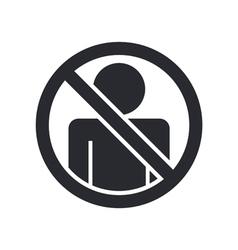access forbidden icon vector image