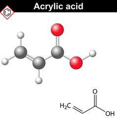 Acrylic acid molecule vector image