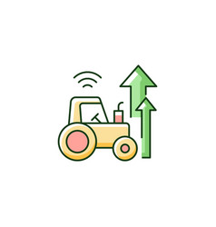 Agricultural modernization rgb color icon vector