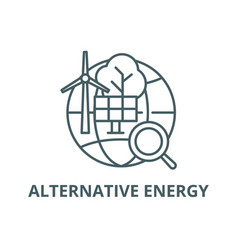 alternative energy line icon alternative vector image