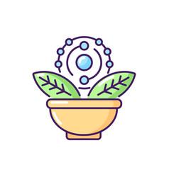 Antioxidant rgb color icon vector