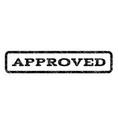 approved watermark stamp vector image