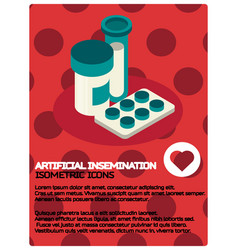 artificial insemination color isometric poster vector image
