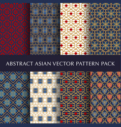 asian abstract pattern pack vector image