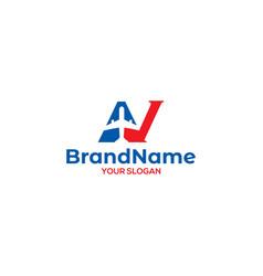 Av plane logo design vector